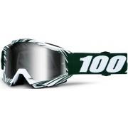 100% Accuri Extra Bali Óculos de motocross Branco Verde único tamanho