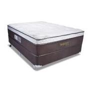 Colchão Luckspuma Molas Pocket Satisfaction Viscoelástico Sued - Colchão King Size - 1,93x2,03x0,36 - Sem Cama Box