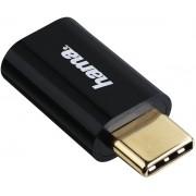 Adaptor Hama 178399, MicroUSB - USB Type-C (Negru)