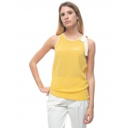Red Valentino Top in seta Giallo Seta Donna