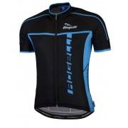 ultrakönnyű kerékpáros mez Rogelli UMBRIA 2.0 rövid ujj, fekete és kék 001.249.