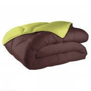 Couette réversible coton 140x200 cm 570 gr/m² choco anis