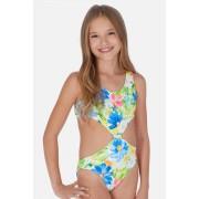 Costum de baie Tropical, pentru fetite multicolor 14