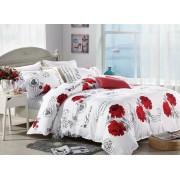 Lenjerie de pat dublu din microfibră, cu 2 fete de perna, Evia Home MF010/38