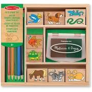 Fa pecsétek dobozban - Állatok