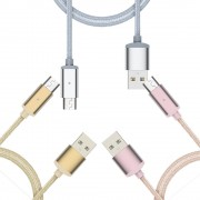 Cablu Magnetic MICRO USB Android (Rose gold, 1m)