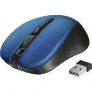 Egér, vezeték nélküli, optikai, USB, TRUST Mydo, kék (TRE21870)