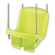 Leagan copii Androno, din plastic, cu spatar tip scaunel, verde