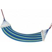 Hamac Albastru pentru 1 persoana ideal pentru relaxare in gradina sau curte dimensiuni 195x85 cm capacitate 150kg