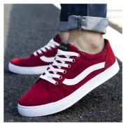 Zapatos De Lona De Hombres De Deportes De Ocio -Rojo
