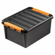 """1 Clipbox Pro 31 zwart (50 x 39 x 26 cm) 32 liter""""onbreekbaar!"""""""