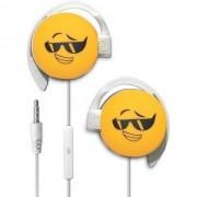 Start Auricolare A Filo Stereo Smile-02 Headphones Jack 3,5mm Universale Per Musica Yellow Per Modelli A Marchio Huawei