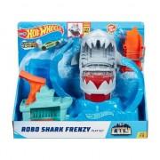 Set de joaca Hot Wheels, Robo shark frenzy, GJL12 Mattel