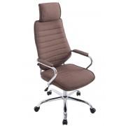 CLP Poltrona ufficio Rako in tessuto, marrone , marrone, altezza seduta