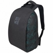 Eume Genx Massager 26 Ltr Laptop Backpack For 15.6 inch Laptop and Nylon Water Resistance Backpack With 2 USB Charging Port- Peacock