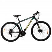 Bicicleta mountainbike Omega Duke 29 cadru 49cm 2019 negru verde galben