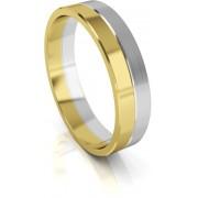 Art Diamond Pánský bicolor snubní prsten ze zlata AUG121 62 mm