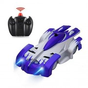 Tuptoel Wall Climbing Car RC Remote Control Car Toys Rechargeable Sport Racing Vehicle for Kids Boys Gift with Mini Zero Gravity 360 Stunt Car - Blue