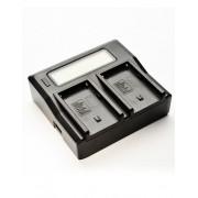 Digital Power Incarcator dual LCD compatibil Acumulator Panasonic DMW BLF19