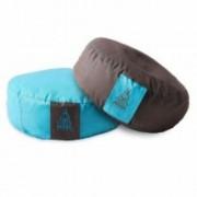 PRANA Türkiz + Barna 2in1 kifordítható huzat 36x12 cm kerek jóga ülőpárnához