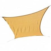 Sonnensegel Quadrat 5 x 5 m beige