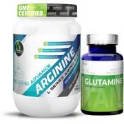 Advance Nutratech Arginine Aminos Pre-workout 200gm unflavoured Raw Powder Glutamine supplement powder 100gm unflavore