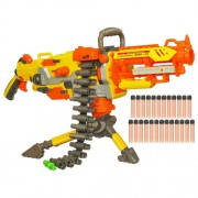 Nerf Hasbro N-Strike Elite Vulcan/Havok Fire Ebf25 Dart Blaster (Blue and White)
