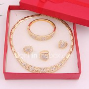 Sieraden-Kettingen / Oorbellen / Ringen / Armband(Legering / Strass)Bruiloft / Feest / Dagelijks Giften van het Huwelijk