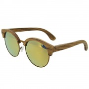 Bewell Bamboo Zebra Wood Sunglasses