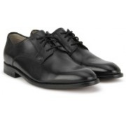 Clarks Twinley Lace Black Leather Lace Up For Men(Black)