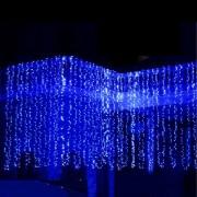 Perdea Luminoasa Craciun 2.4x1.5m 625 LEDuri Statice Albastre FI P CL