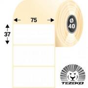 75 * 37 mm-es, 1 pályás papír etikett címke (800 címke/tekercs)