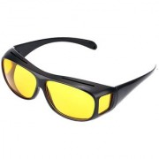 HD Wrap NV Night Driving HD Yellow Color Best Quality Real Club Night View Glasses In Best Price Pack of 1 (AS PER SEEN ON TV)