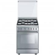 SMEG Cx51m Cucina 60x50 4 Fuochi A Gas Forno Elettrico 55 Litri Classe A Colore