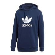 Adidas Felpa con cappuccio Trefoil warm-up blu