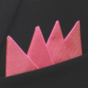 Färdigvikt bröstnäsduk Fyrspets FN044 Rosa