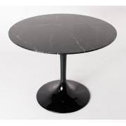 Replica Tulip Table - Nero Marquina Marble - 120cm