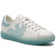 Сникърси EMPORIO ARMANI - X3X071 XL807 A042 White/Light Blue