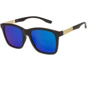 Arzonai Marico Wayfarer Black-Green UV Protection Sunglasses For Men & Women |MA-501-S3|