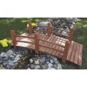 Stonegate Designs Wooden Garden Bridge - 5ft.L, Model KMG100858-WP, Orange