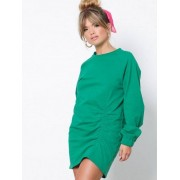 NLY Trend Rouched Front Sweat Sweatshirts Grön