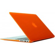 Mobigear Hard Case Frosted Oranje voor Apple MacBook Air 13 inch