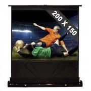 """FrontStage Pantalla de pie extraíble para proyector y cine en casa HDTV 100"""" 200x150cm 4:3 (PS-LUA-QSFC-100"""")"""