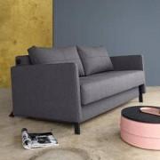 Innovation Cubed 140 Schlafsofa mit Armlehnen B: 1540 H: 660 T: 1020 mm, schwarz/granit 95-744001020565-2