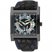 Reloj Q&Q Attractive DA82J502Y Footloose Collection Análogo Con Calendario-Negro