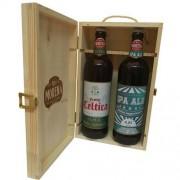Birra Morena Craft Beer - 2 Bottiglie Cl 75 In Cassa Di Abete - Naturale - Celtica Super - Ipa Ale
