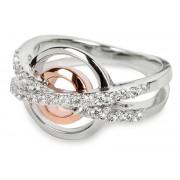 Silver Cat Stříbrný prsten s krystaly SC025 54 mm