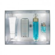 Perry Ellis 360 Eau De Toilette Spray + After Shave Balm + Deodorant Stick + Mini EDT Spray Gift Set Men's Fragrance 447338