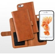 MOC Basic Leather Flip Case (iPhone 8/7) - Brun