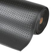 Černá průmyslová protiúnavová rohož - délka 18,3 m, šířka 122 cm a výška 1,27 cm